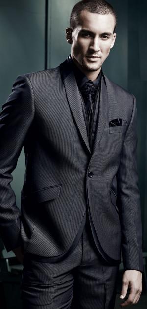 2c26f0a5298a8 Современный серый мужской костюм-двойка, купить в Киеве, стоимость